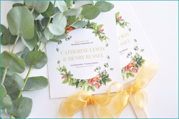 Wedding Program Paddle Fan Template Free