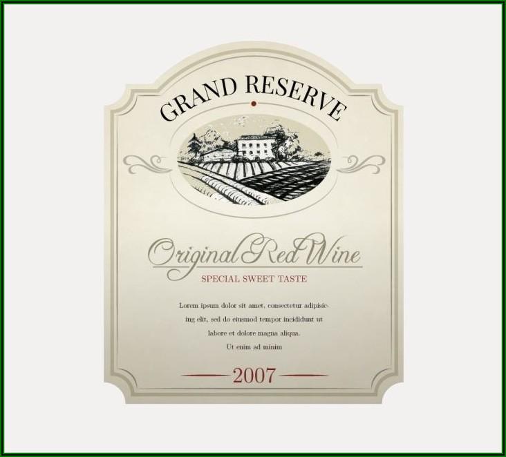 Wine Label Template Psd