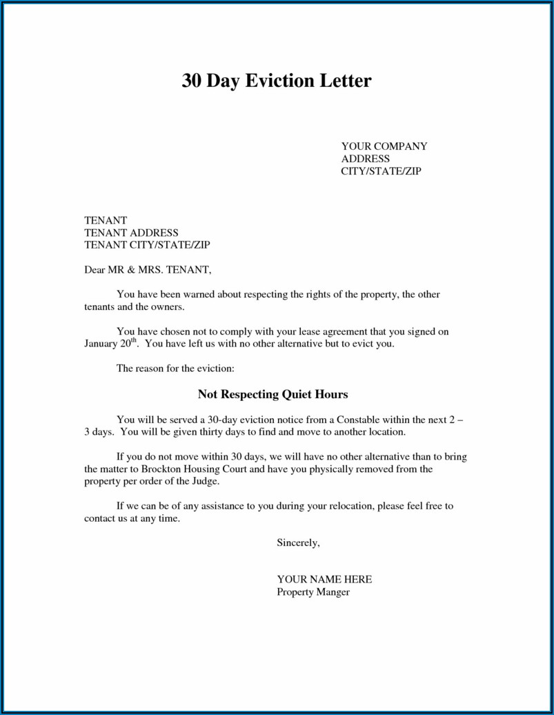 30 Day Eviction Notice California Form Free