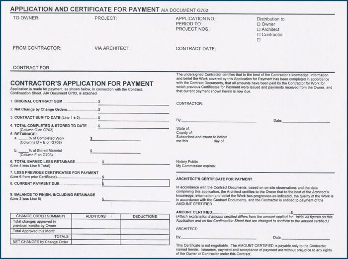 Aia Request For Payment Form