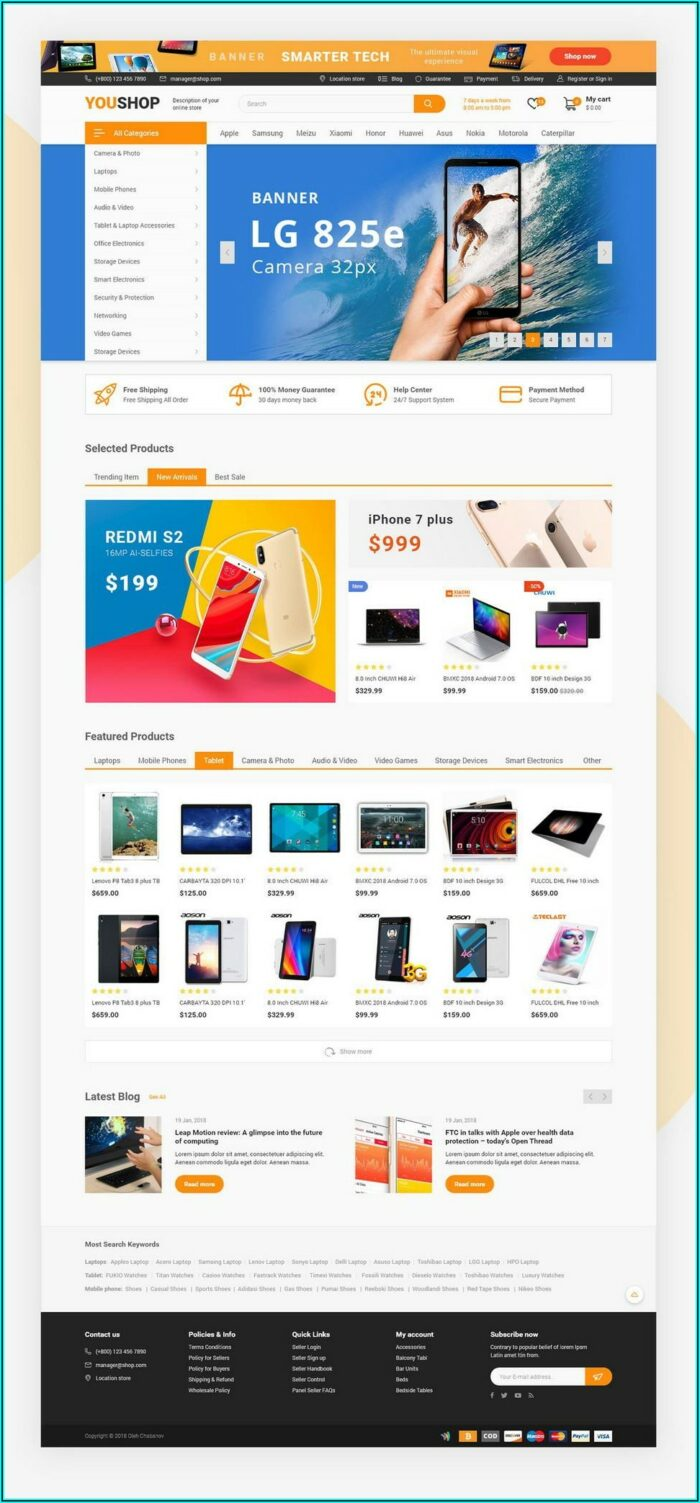 Angularjs Ecommerce Website Template Free Download