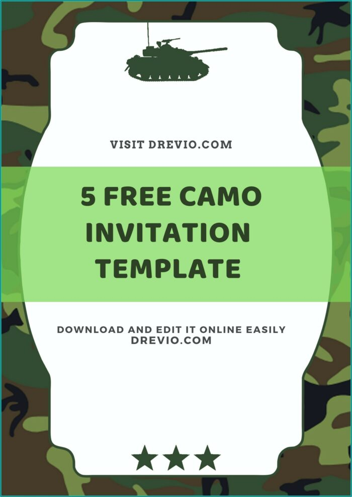 Army Birthday Invitation Templates Free