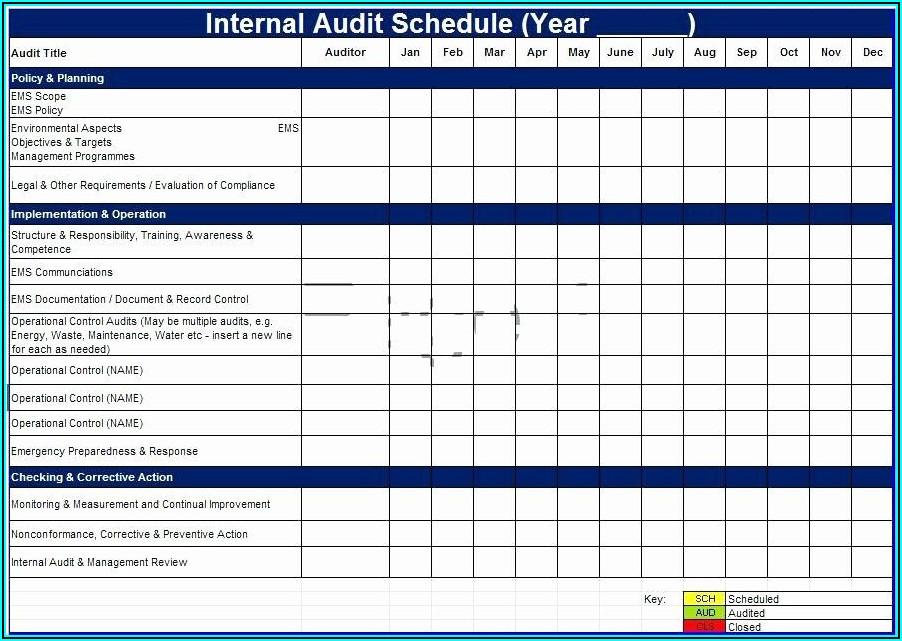 Audit Plan Template Excel