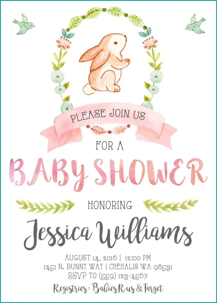 Baby Shower Invitation Template Printable