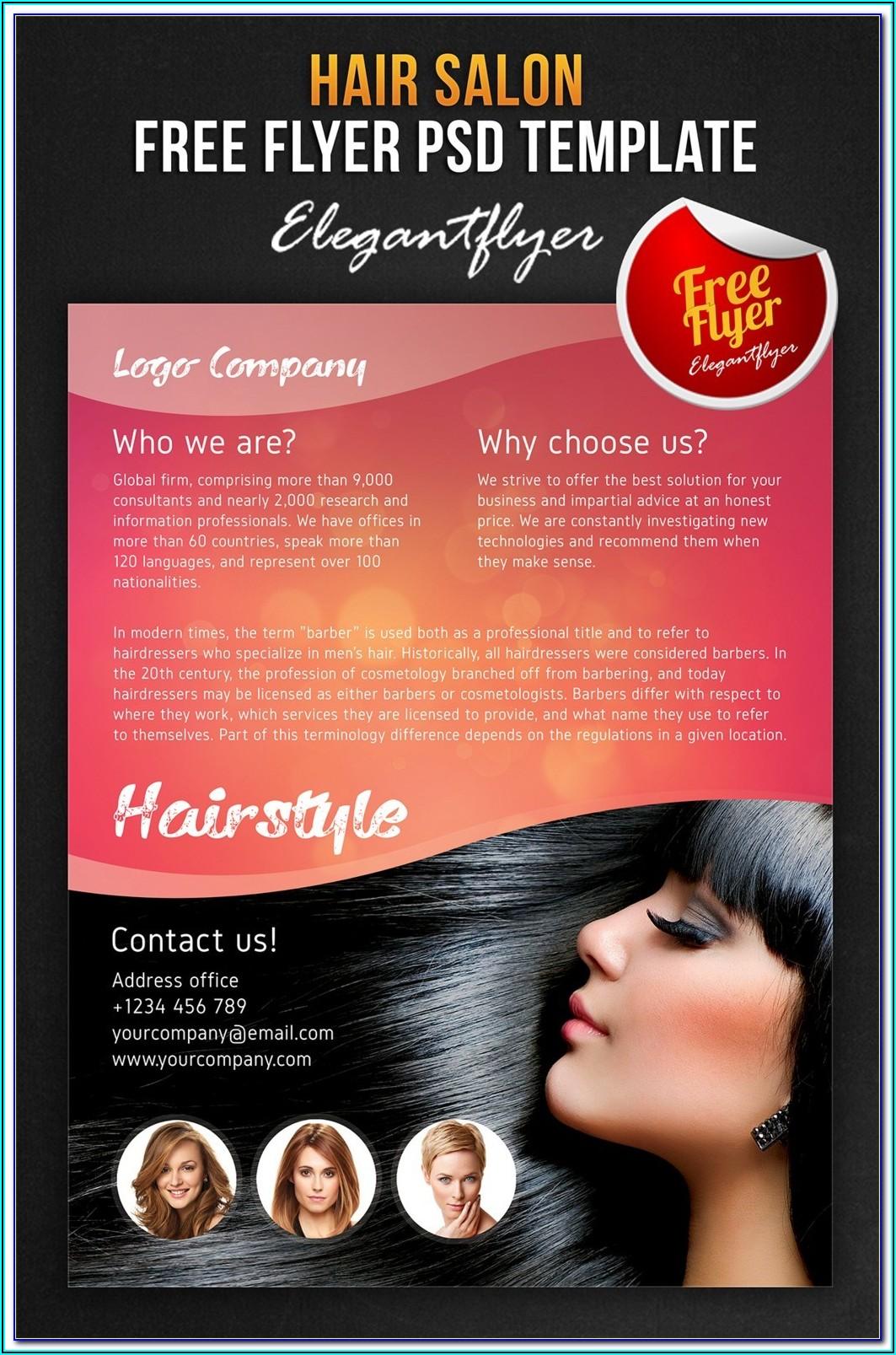 Beauty Salon Flyer Templates Psd Free Download