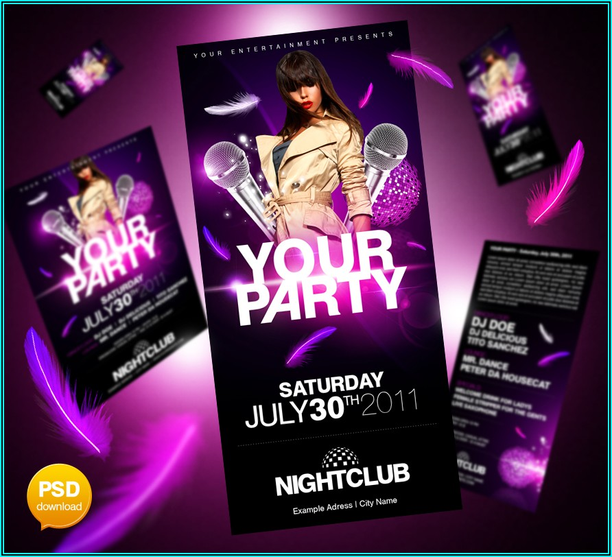 Birthday Party Flyers Templates Free