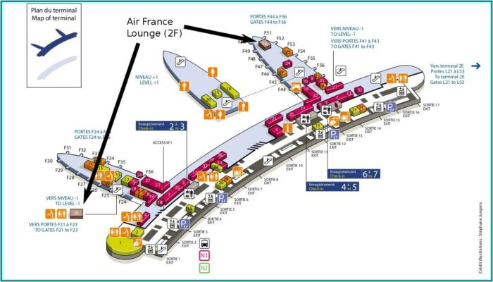 Cdg Airport Map Terminal 2e To 2f
