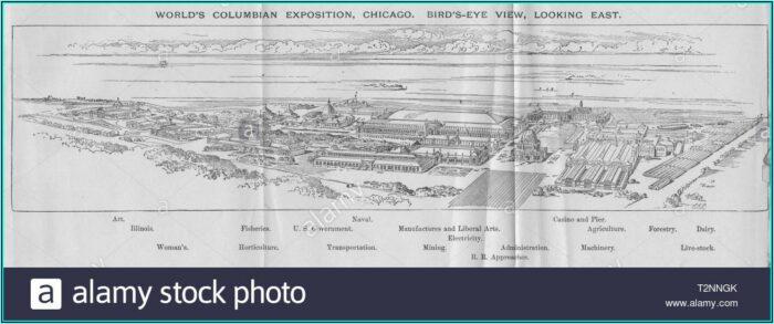 Chicago World's Fair 1893 Map