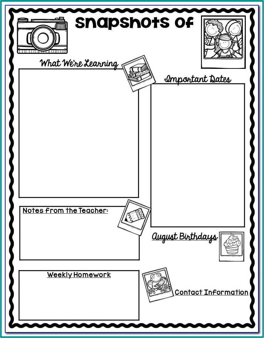 Classroom Newsletter Templates Free