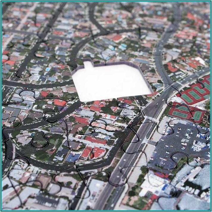 Custom Aerial Map Jigsaw Puzzle
