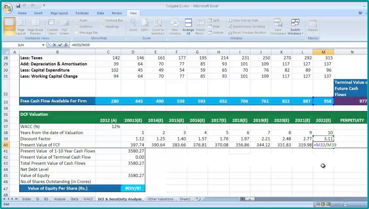Daily Cash Forecast Template Excel