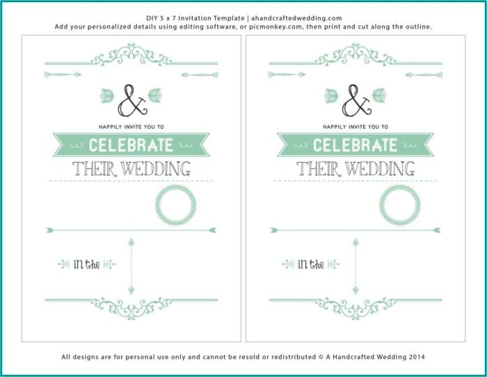 Download Free Wedding Invitation Templates For Word
