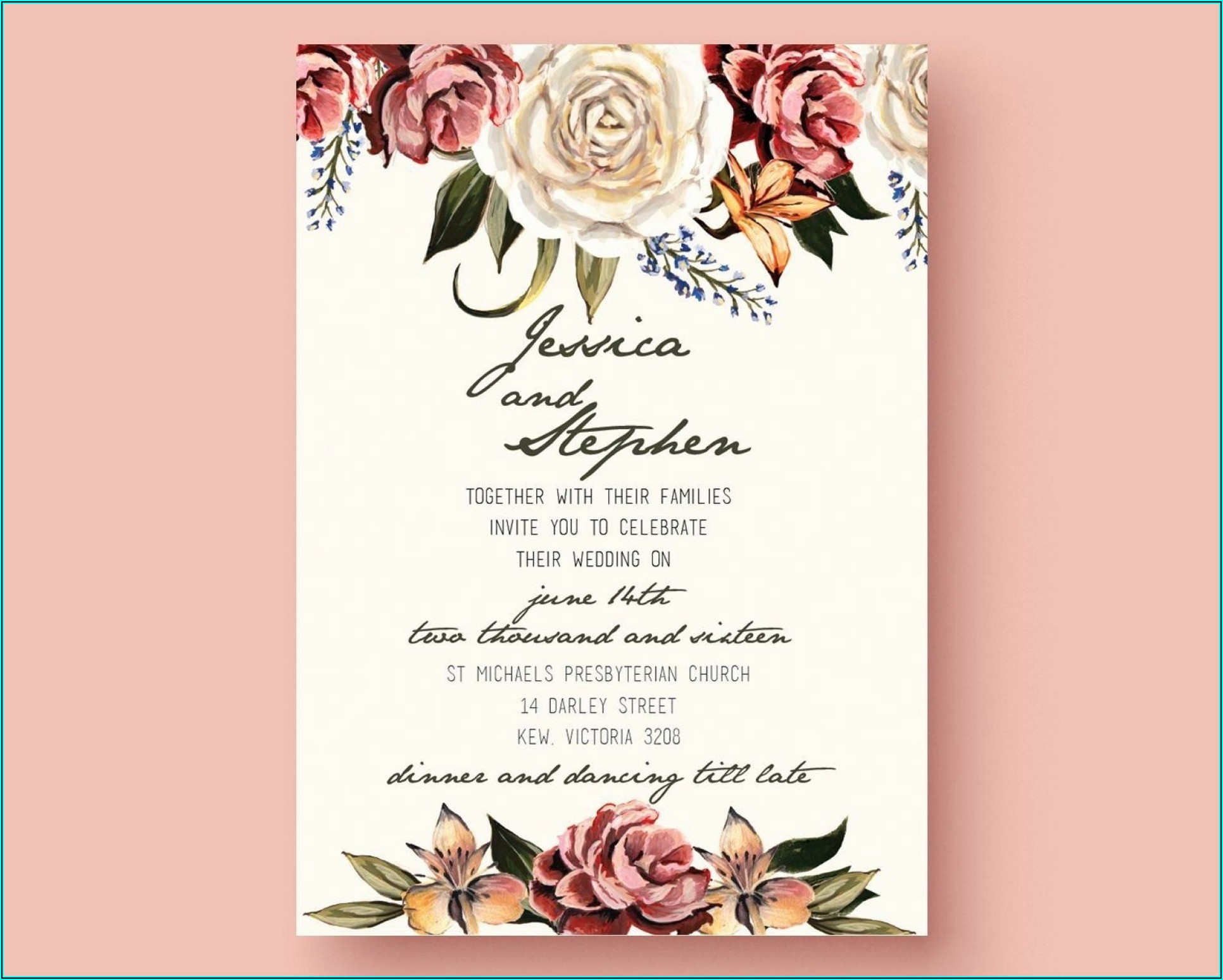 Editable Wedding Invitation Templates Free Download Word