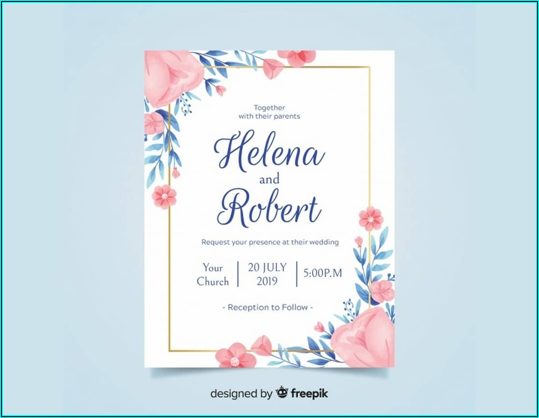 Editable Wedding Reception Invitation Templates Free Download