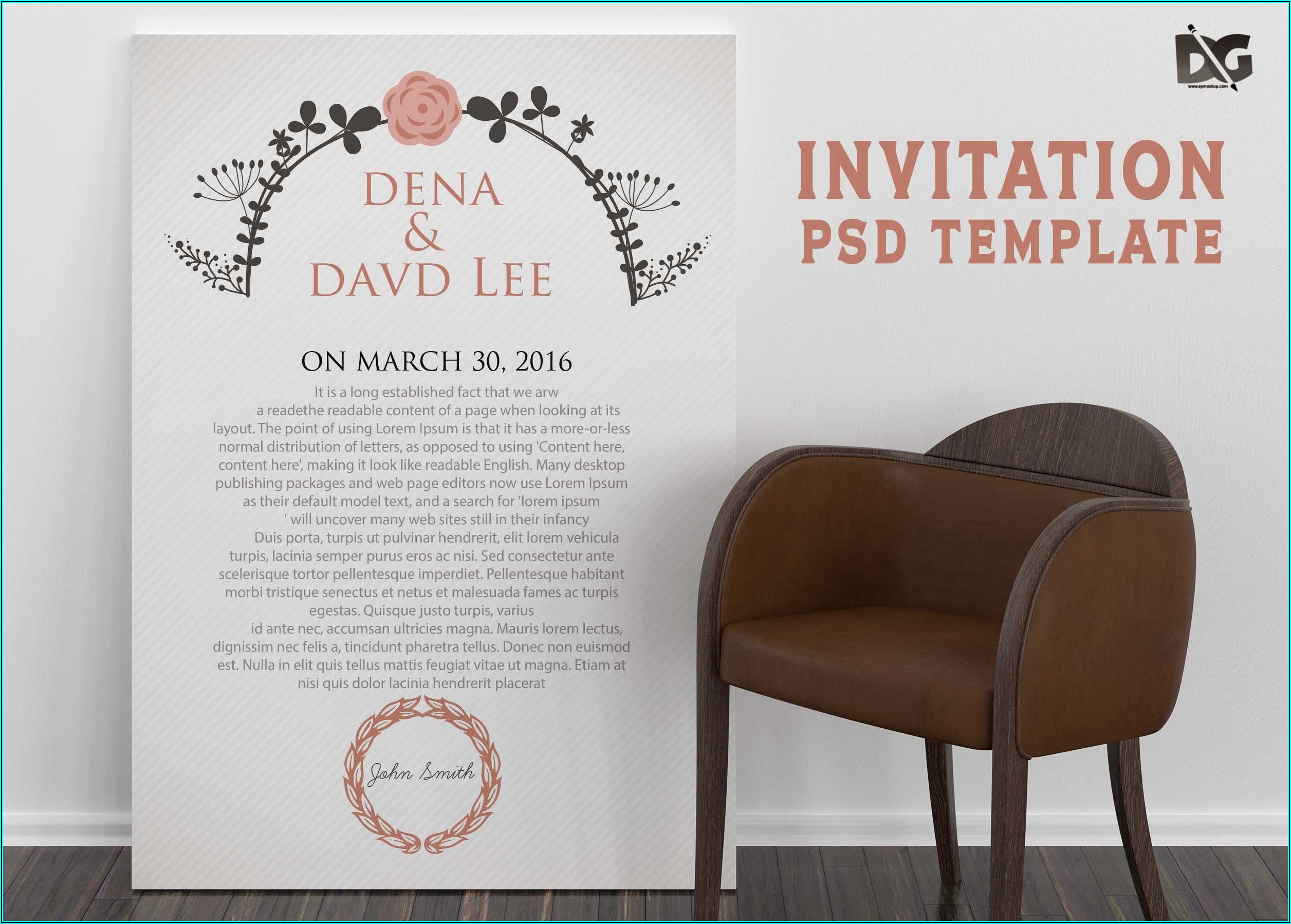Engagement Invitation Psd Templates Free Download