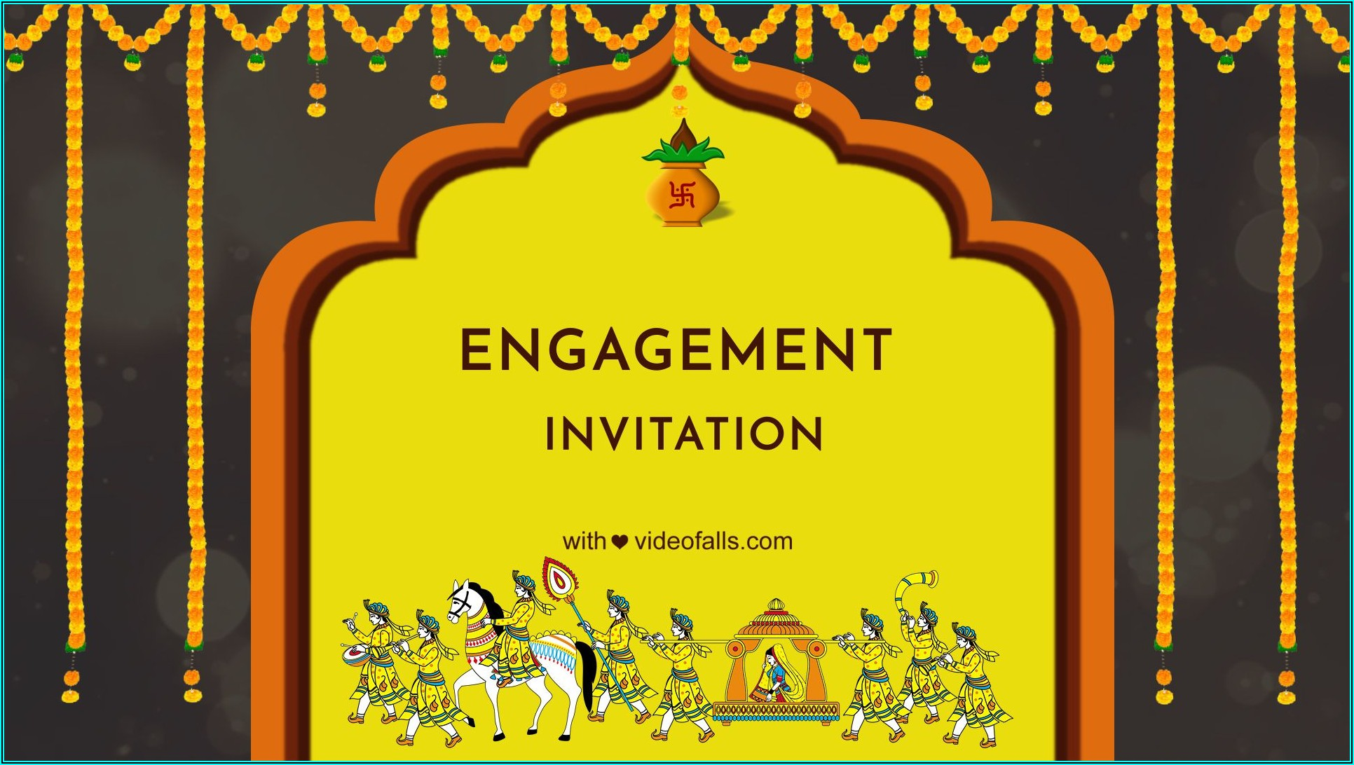 Engagement Invitation Video Maker Free Download