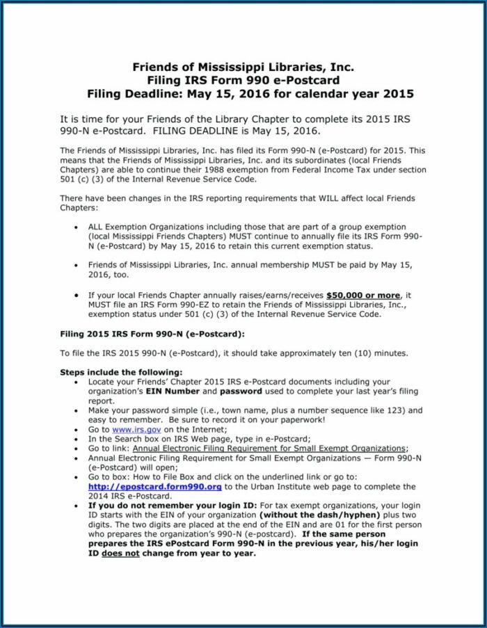 Form 990 Filing