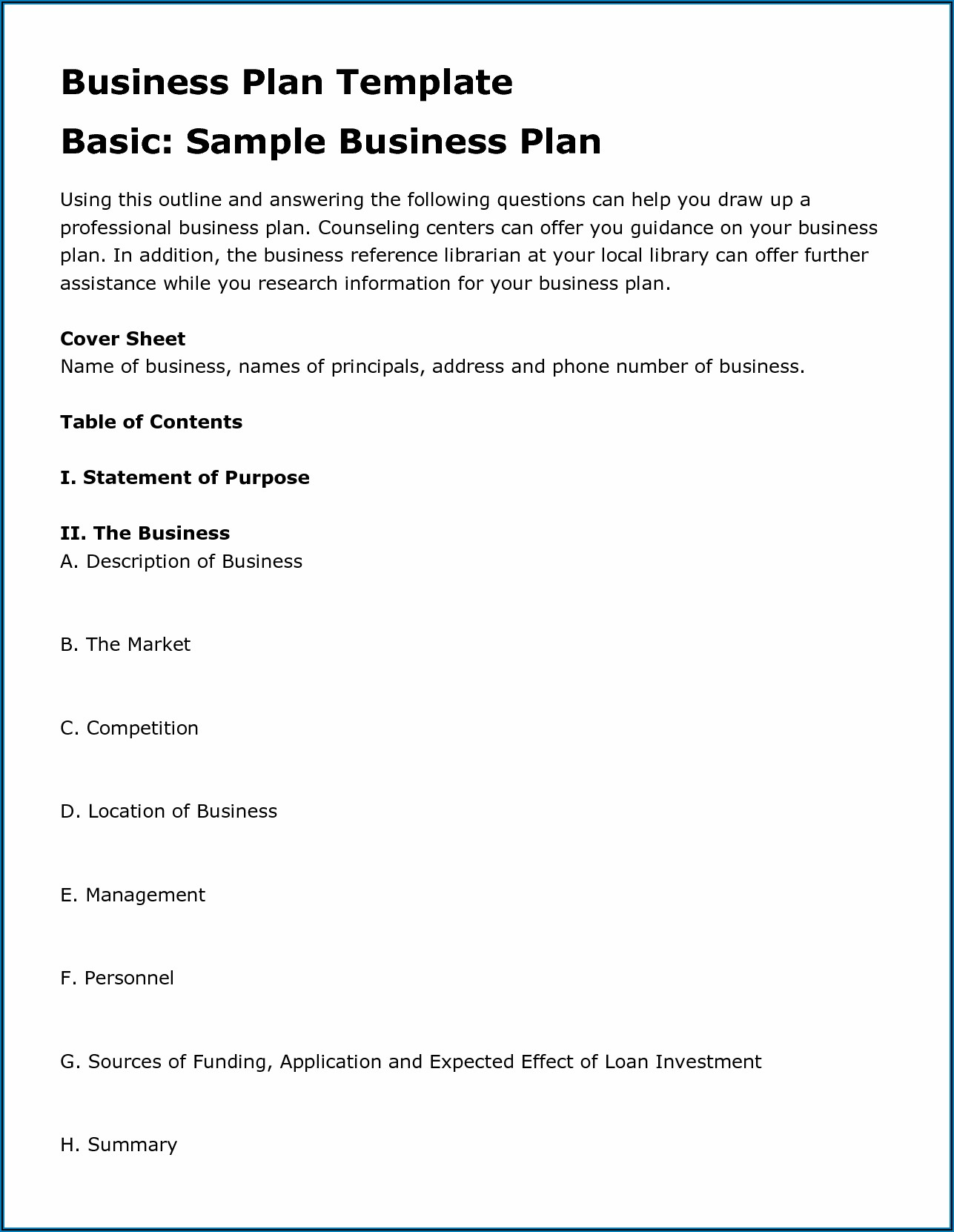 Free Blank Business Proposal Forms