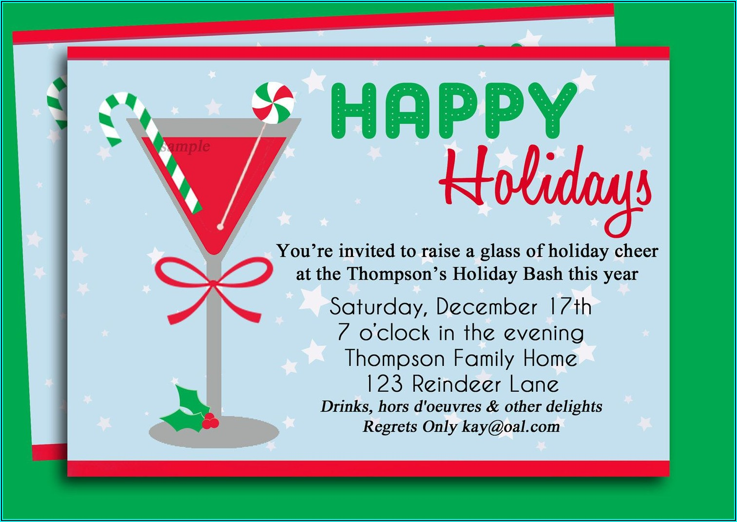 Free Christmas Cocktail Party Invitation Templates