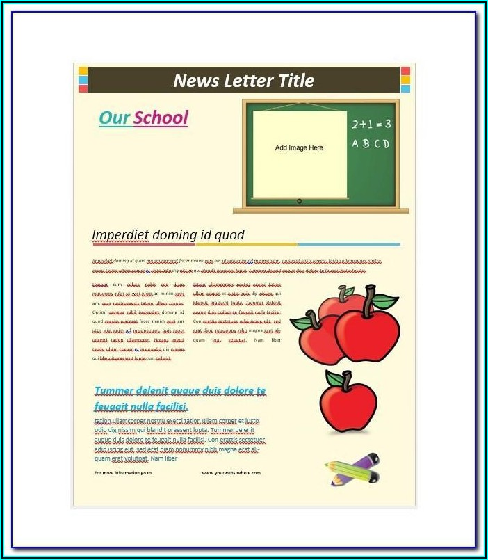 Free Daycare Newsletter Templates Word