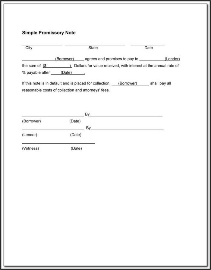 Free Demand Promissory Note Form