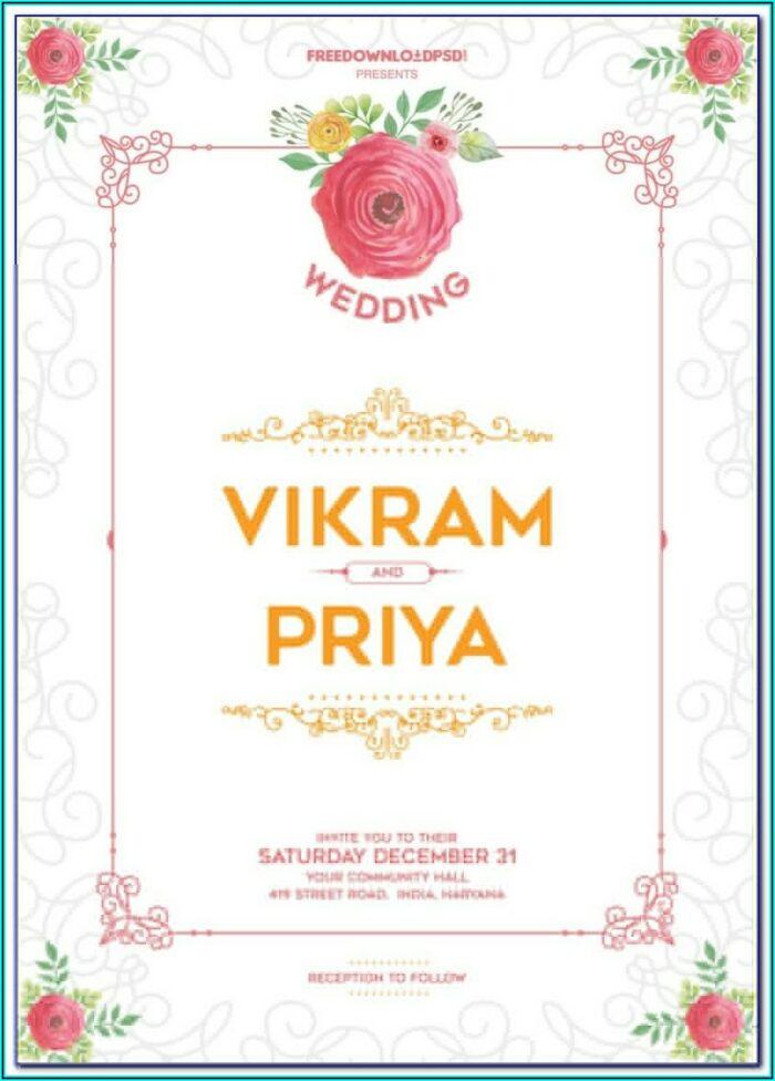 Free Download Indian Wedding Invitation Templates Microsoft Word