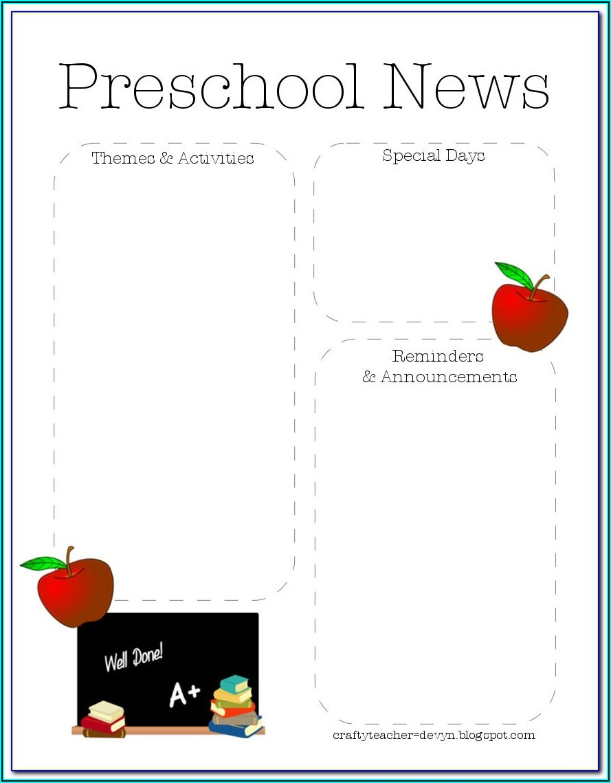 Free Editable Daycare Newsletter Templates