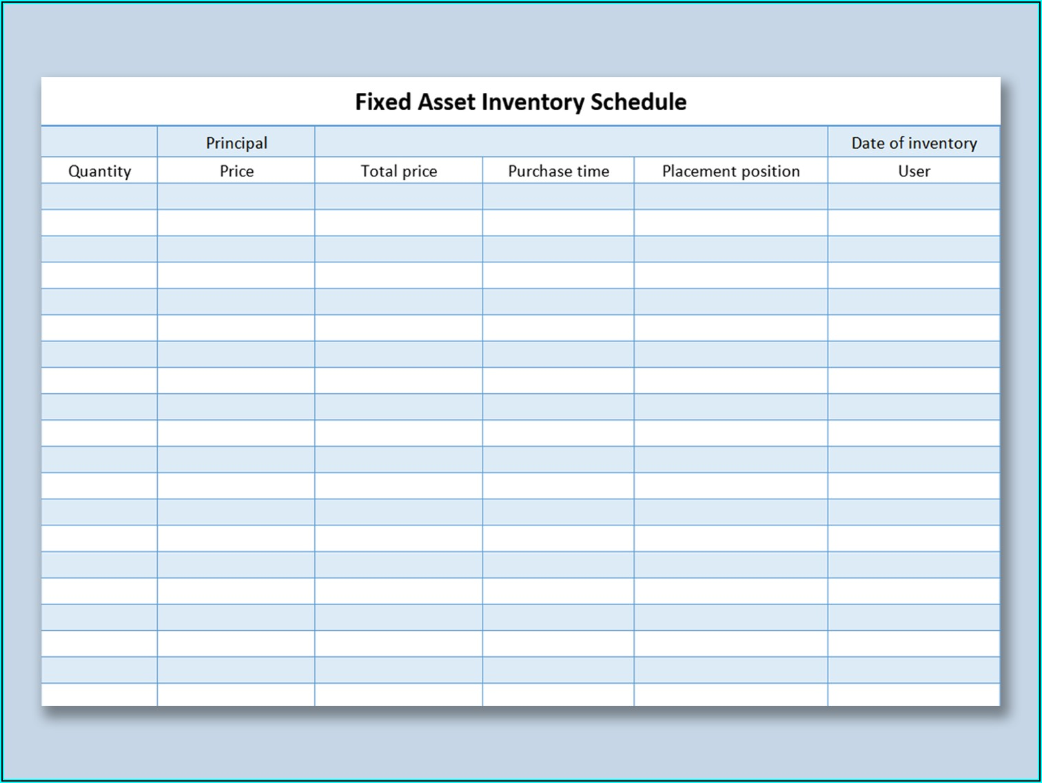 Free Excel Asset Inventory Template