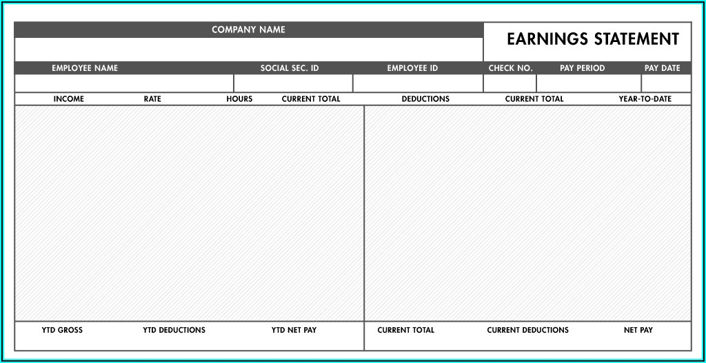 Free Fillable Pay Stub Templates