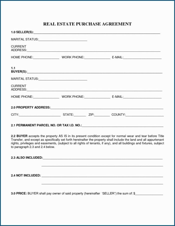 Free Land Contract Forms Ohio