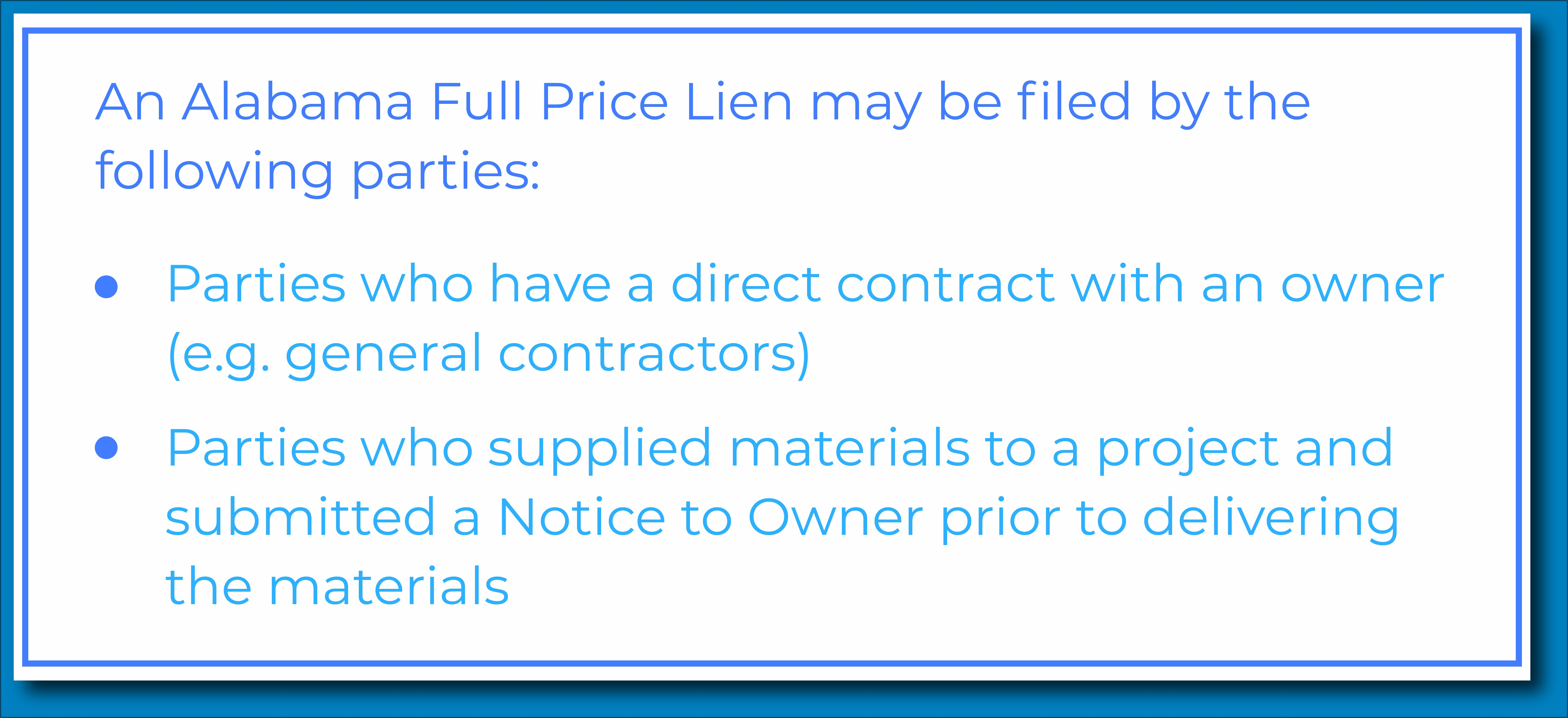 Free Mechanics Lien Form Alabama