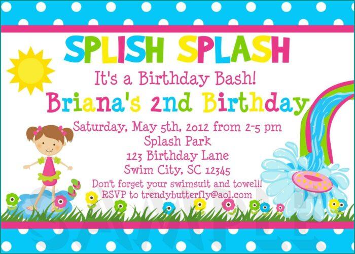 Free Printable 5th Birthday Party Invitation Templates