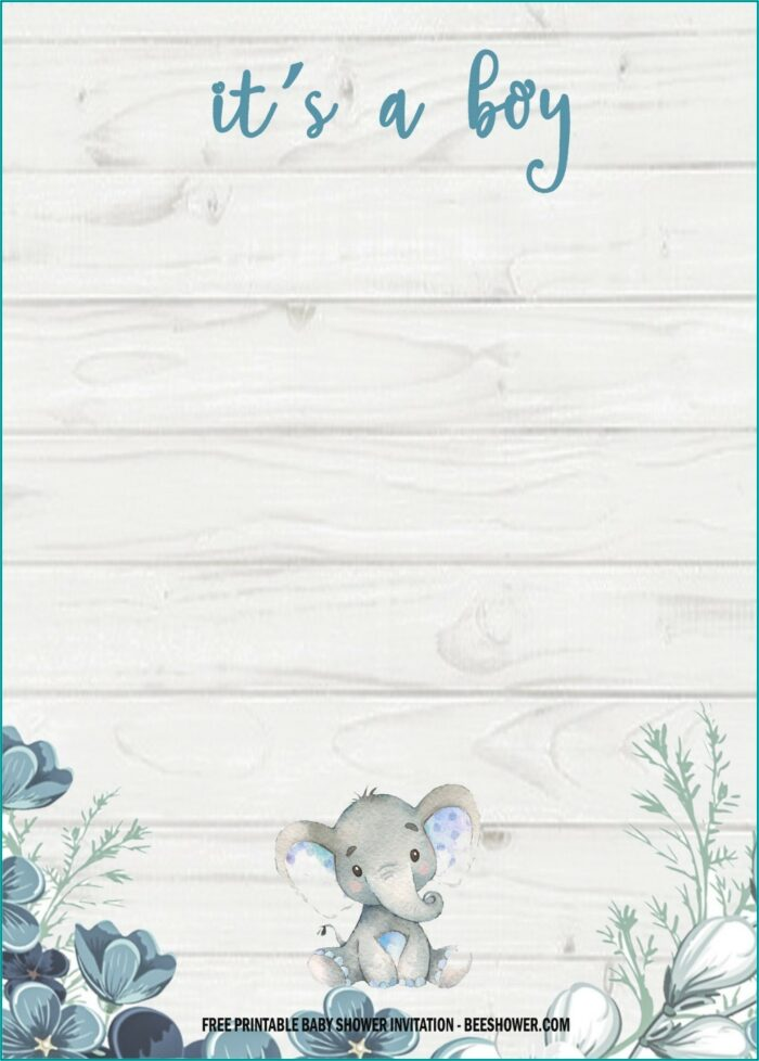 Free Printable Baby Shower Invitation Templates For A Boy
