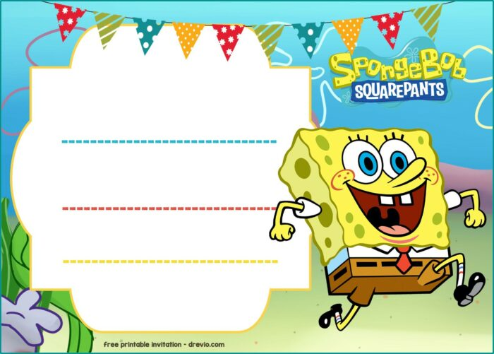 Free Spongebob Party Invitation Templates