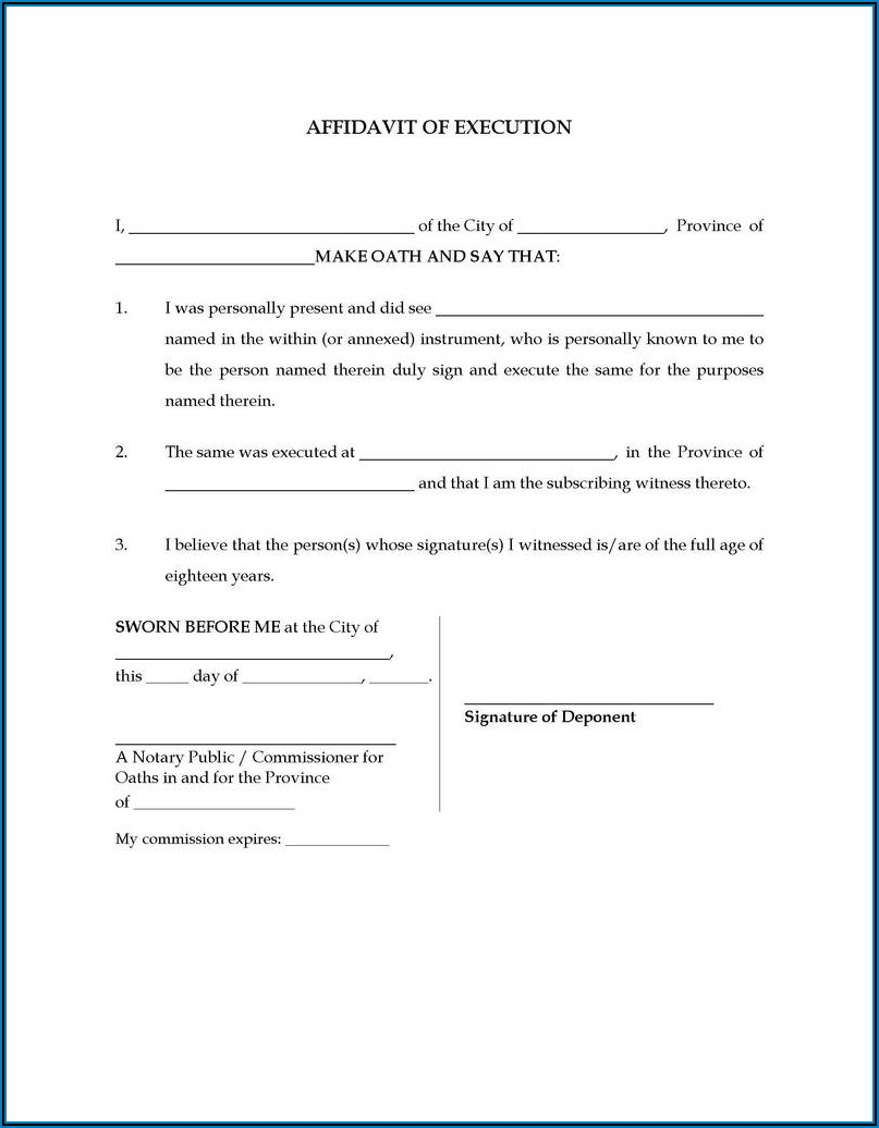 Free Texas Notary Acknowledgement Form