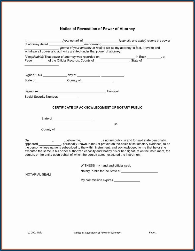 Free Virginia Notary Acknowledgement Form