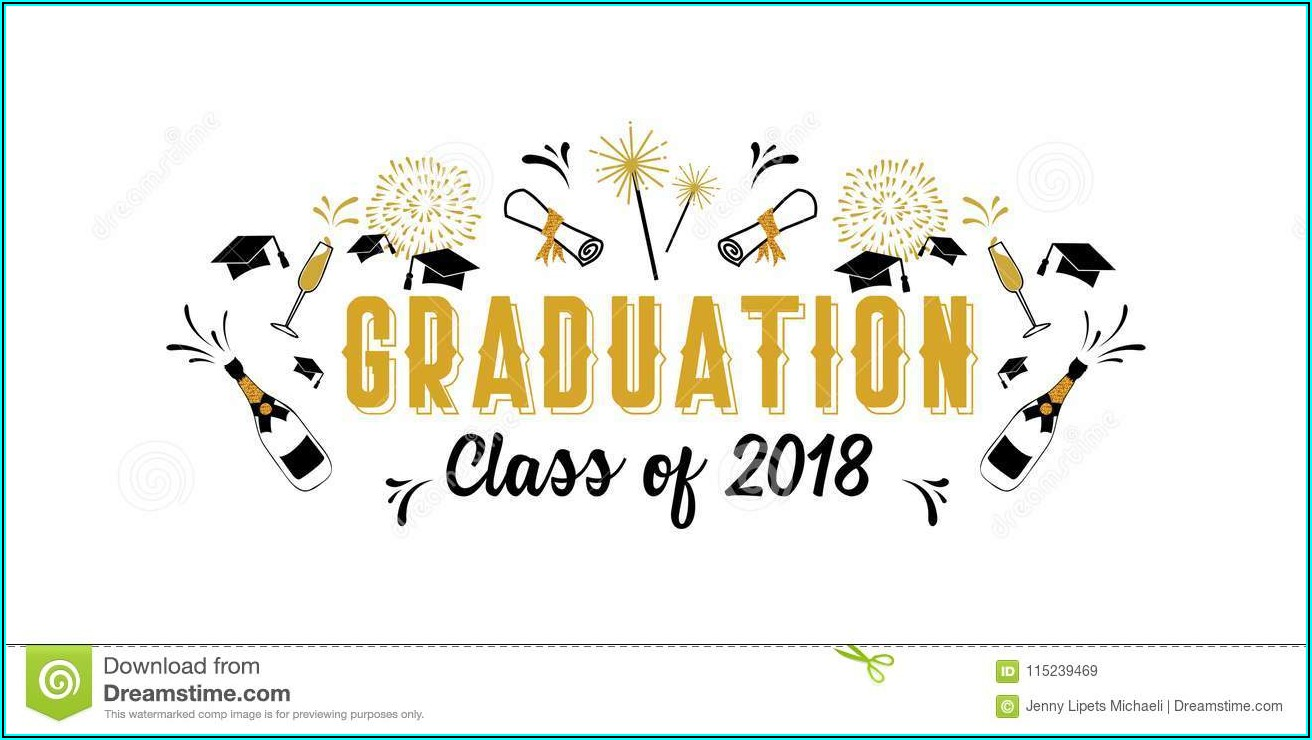 Graduation Greeting Card Template