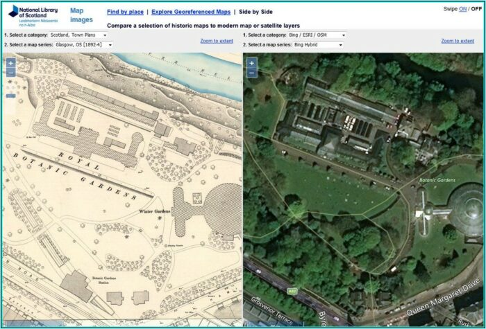 Historic Maps Scotland Side By Side