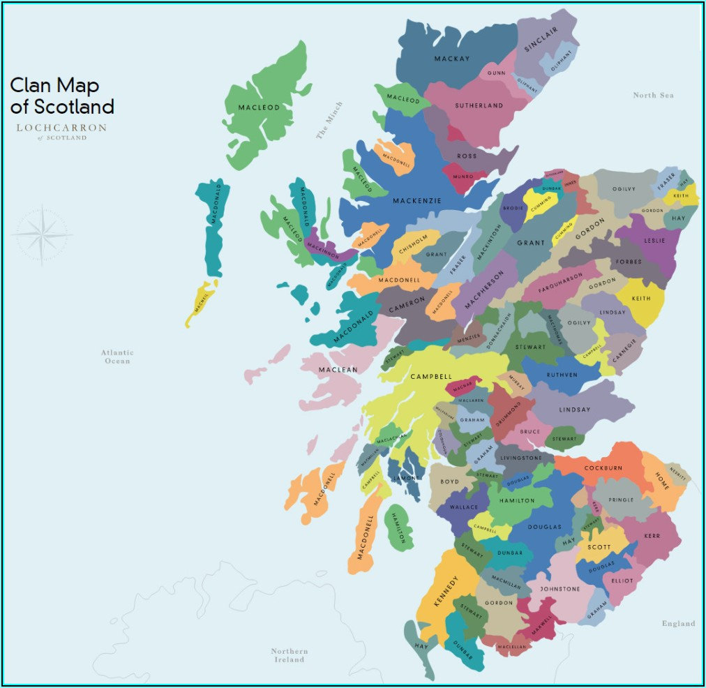 Historical Clan Maps Of Scotland