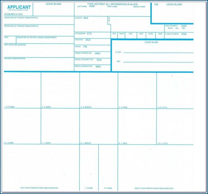 How To Fill Out Standard Fingerprint Form (fd 258)