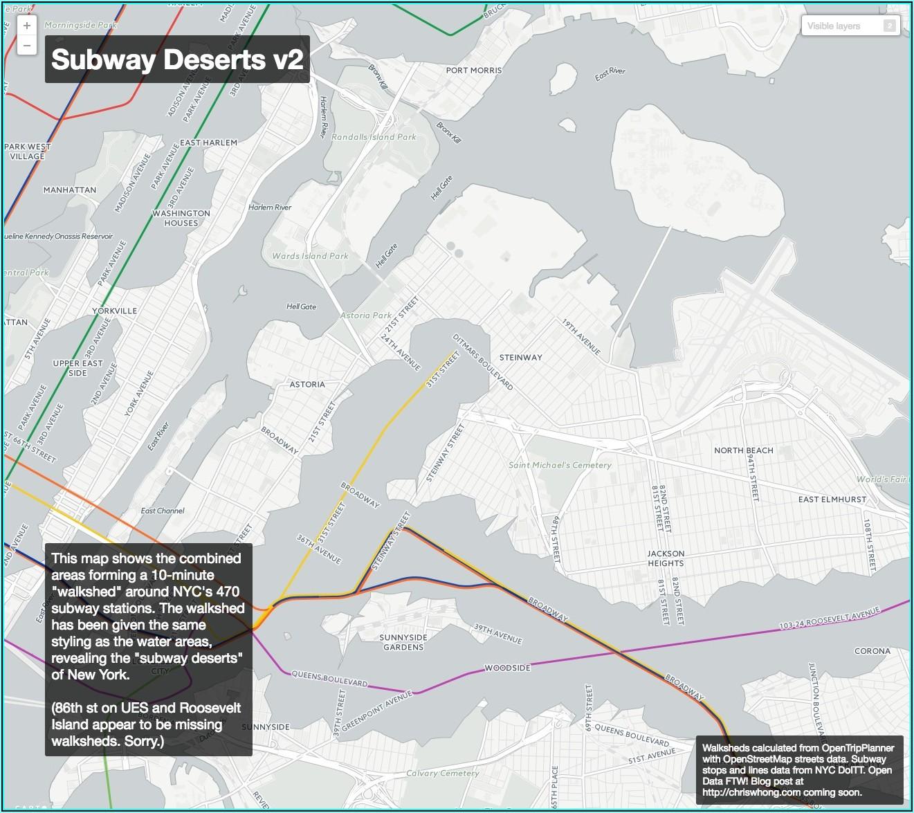 Interactive Subway Map New York City