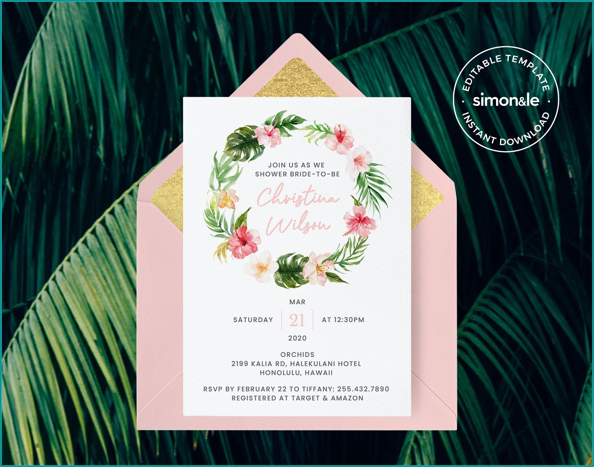 Invitation Address Label Template