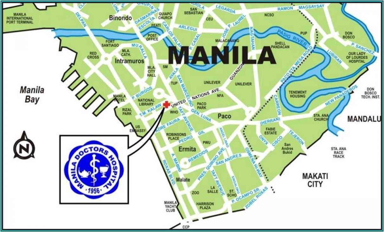 Manila Doctors Hospital Map