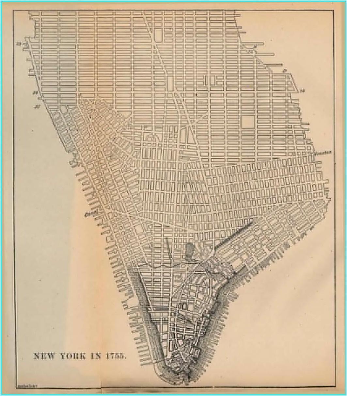 Map Of Manhattan Grid System