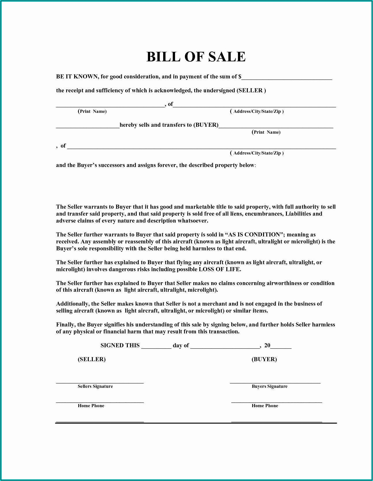Motorcycle Sale Invoice Template