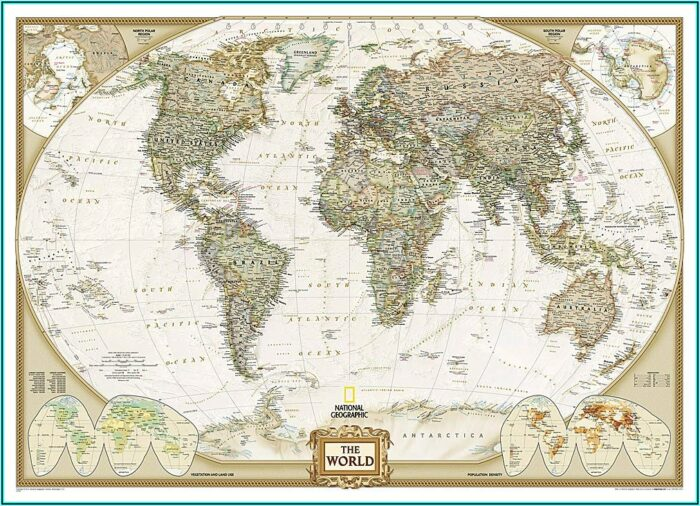 National Geographic World Executive Mural Map