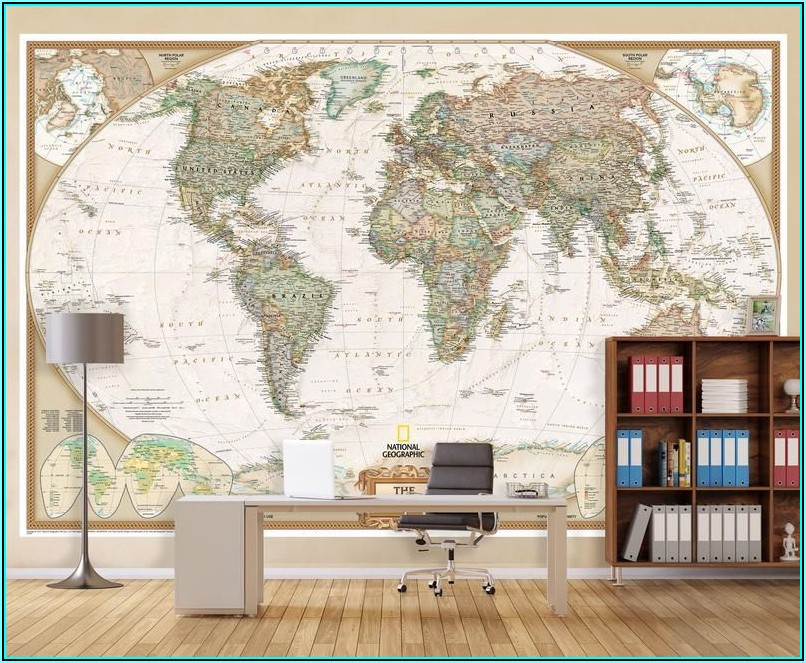 National Geographic World Map Wall Mural