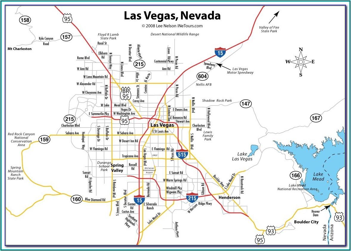 North Las Vegas Strip Hotel Map
