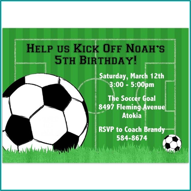 Printable Soccer Birthday Party Invitation Templates Free
