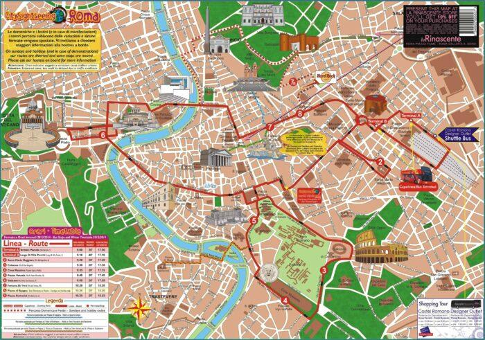 Rome Hop On Hop Off Bus Map